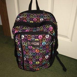Large multi compartment Trans jansport backpack